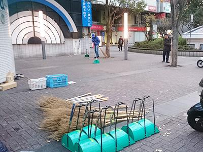 新横浜駅周辺掃除